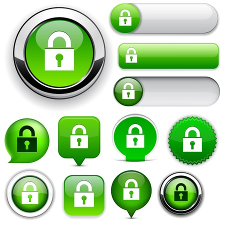 Protect green design elements for website or app.