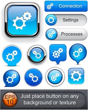 Controls blue design elements for website or app