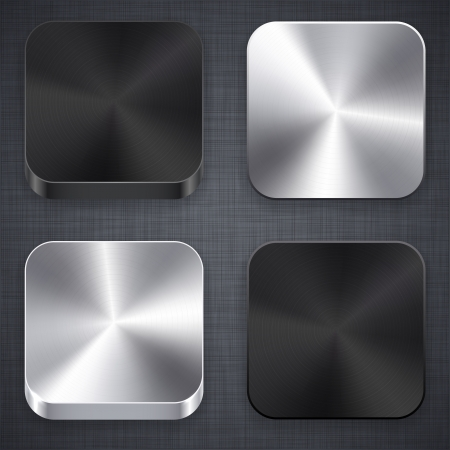 illustration of high-detailed apps matal icon set.