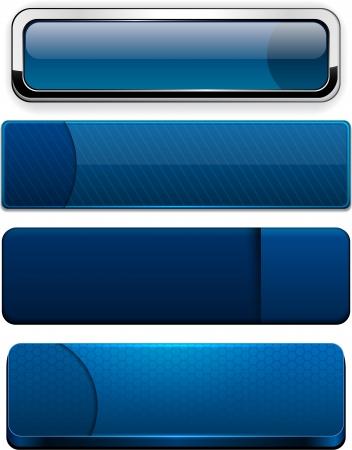 Set of blank dark-blue buttons for website or app  Vector eps10