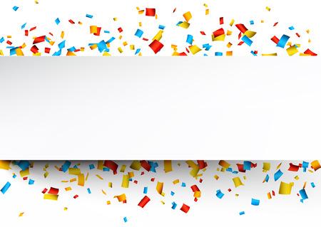 Illustration pour Colorful celebration background with confetti. Vector Illustration. - image libre de droit
