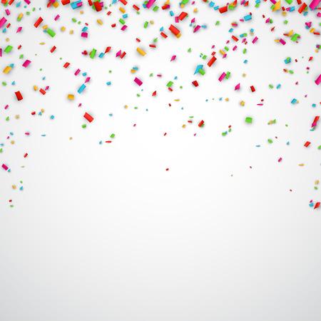 Ilustración de Colorful celebration background with confetti. Vector Illustration. - Imagen libre de derechos