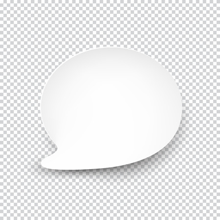 Illustration for illustration of white paper rounded speech bubble with shadow. - Royalty Free Image