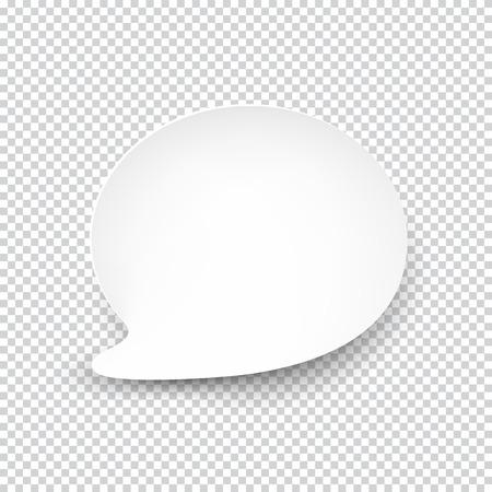 Illustration pour illustration of white paper rounded speech bubble with shadow. - image libre de droit