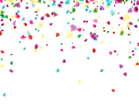 �¡elebration background with blurred  confetti. Vector Illustration.