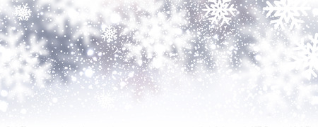 Winter background with snowflakes. Vector Illustration.のイラスト素材