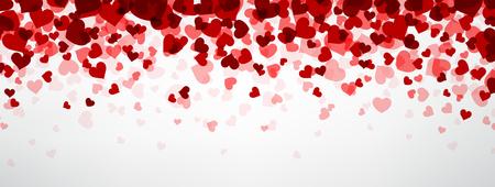Ilustración de Romantic background with hearts. Vector paper illustration. - Imagen libre de derechos