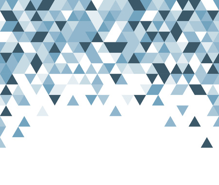 Ilustración de White abstract background with blue triangles. Vector illustration. - Imagen libre de derechos