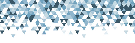 White abstract banner with blue triangles. Vector illustration.