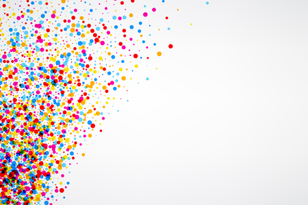 White paper background with color drops. Vector illustration.