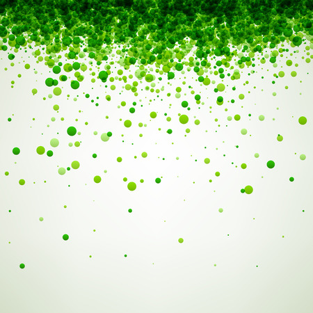 Illustration pour White paper background with green drops. Vector illustration. - image libre de droit