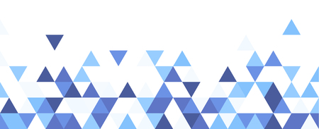 Ilustración de White graphic background with blue triangles. Vector paper illustration. - Imagen libre de derechos
