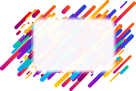 Colorful transparent abstract rectangular background on white. Vector paper illustration.