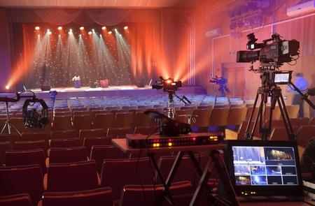 Photo pour Professional digital video camera. accessories for 4k video cameras. - image libre de droit