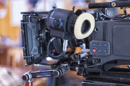 A professional video camera.