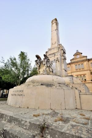 Foto per Martina Franca TA - the war memorial - Immagine Royalty Free