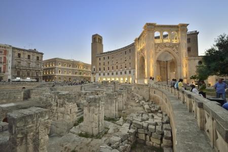 Lecce - the amphitheater next to Piazza Sant Oronzo