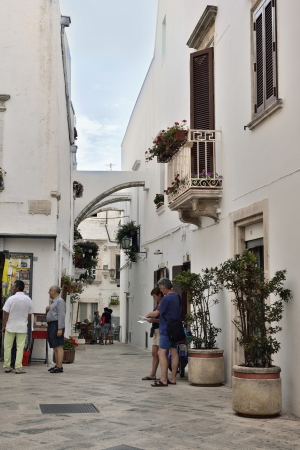 Foto per Locorotondo BA - view of the old town - Immagine Royalty Free