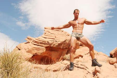 Sexy muscular body builder