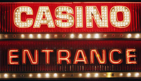 Neon light casino sign