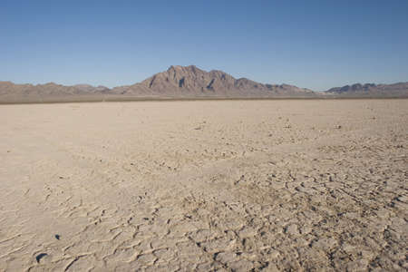 Dry lake bed in Nevada desert