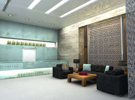 3D render of lobby or waiting area