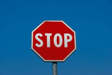 Foto per Stop sign - Immagine Royalty Free