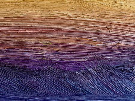 Photo pour An oil painted colorful abstract background. Yellow lilac colors, longitudinal strokes. - image libre de droit