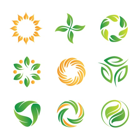 Nature loop and icons template