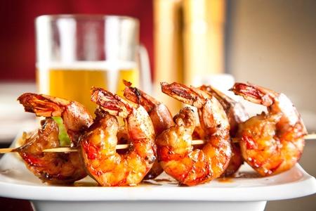 Foto für Shrimp grilled with beer - Lizenzfreies Bild