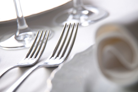 Place setting, close-up photo