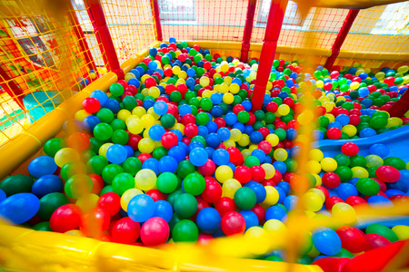 Ball pool in the children's playroom