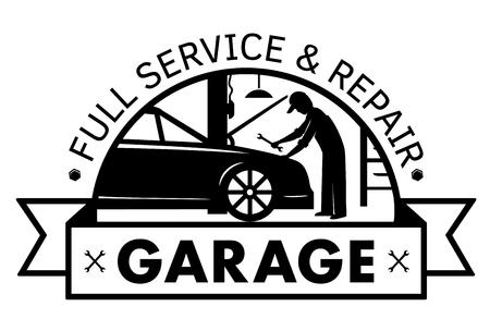 Ilustración de Auto center, garage service and repair logo,Vector Template - Imagen libre de derechos
