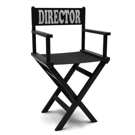 Flim industry  directors chair on a white background