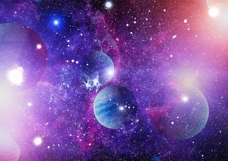 Photo pour Nebula and galaxies in space. - image libre de droit