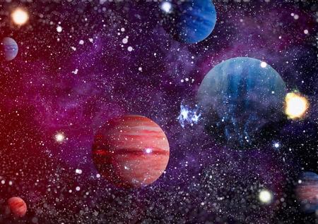 Foto für Nebula and galaxies in space. - Lizenzfreies Bild