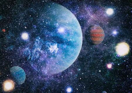 Photo for Star field in deep space many light years far from the Earth. - Royalty Free Image