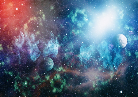 Photo for planets, stars and galaxies in outer space showing the beauty of space exploration. - Royalty Free Image