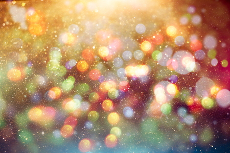 Photo for Festive Christmas background. Elegant abstract background with lights and stars - Royalty Free Image