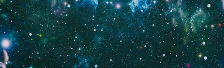 Photo for Space background with stardust and shining stars. Realistic colorful cosmos with nebula and milky way. - Royalty Free Image