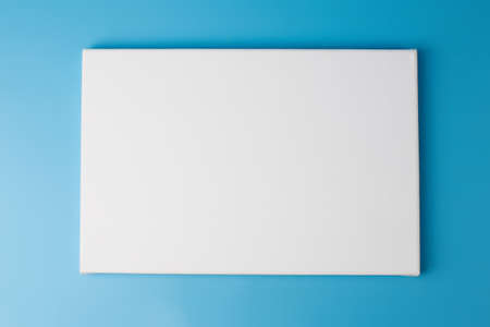 Photo for Space picture on white poster blue background - Royalty Free Image