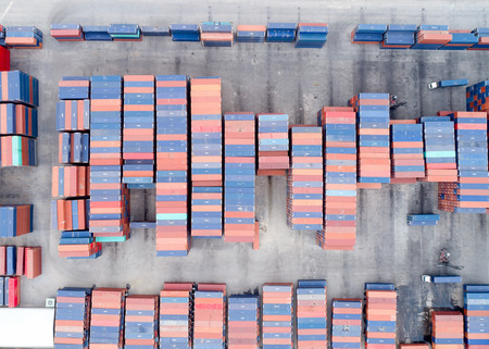 Large container shipping at shipping yard main transportation of cargo container shipping. Shipping concept for Global business shipping,Logistic,Import and Export industry.