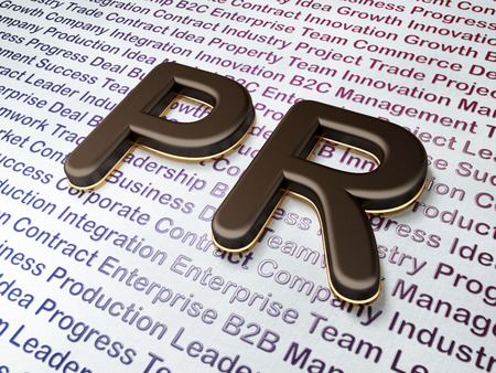 Marketing concept:  PR on Business , 3d render