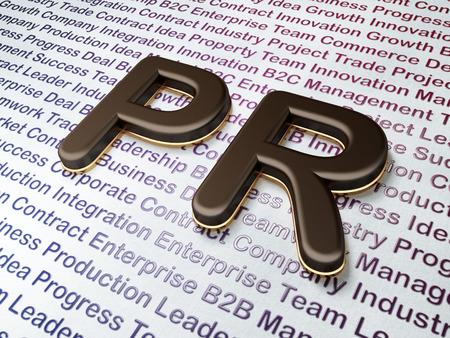 Marketing concept:  PR on Business , 3d render