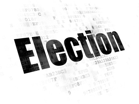 Political concept: Pixelated black text Election on Digital background