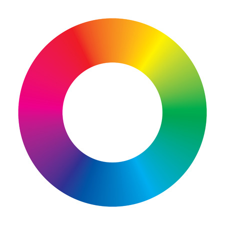 color wheel on white background
