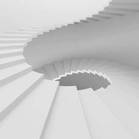 White Spiral Staircase Background