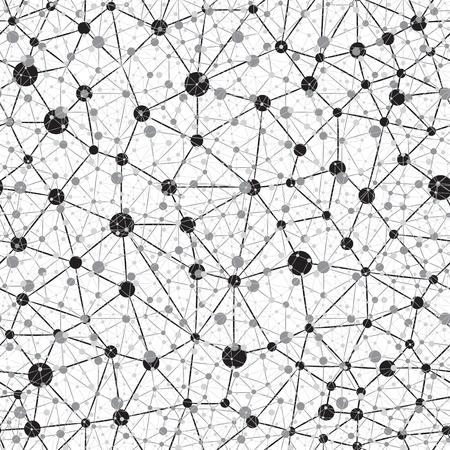 Illustrazione per Seamless Neural Network Background - Immagini Royalty Free