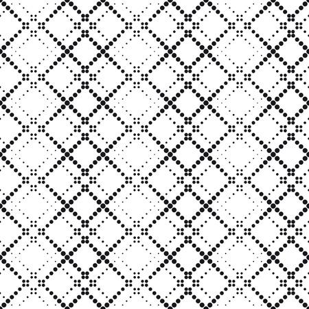 Illustration for Vector Seamlees Monochrome Geometric Wallpaper - Royalty Free Image