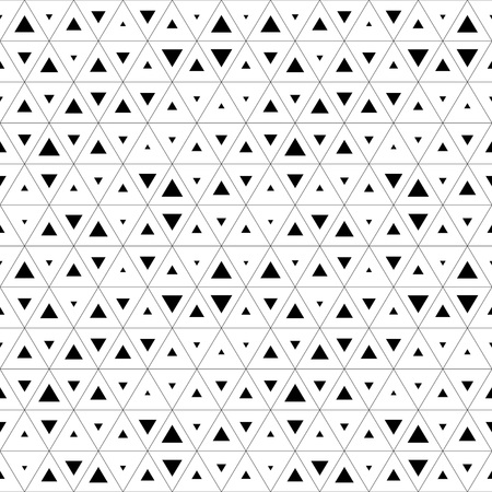 Ilustración de Seamless Triangle Pattern. Abstract Monochrome Background. Vector Regular Texture - Imagen libre de derechos